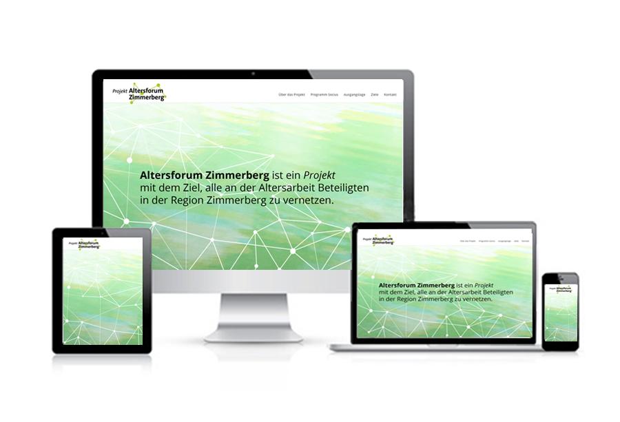 Altersforum Zimmerberg – Referenzbild 4 von laufweite Webdesign & Corporate Design | Raum Zürich