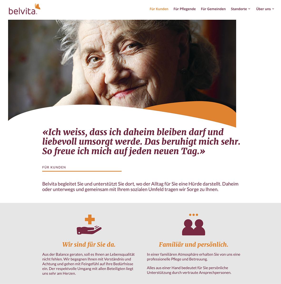 belvita 1 – Referenzbild von laufweite Webdesign & Corporate Design | Raum Zürich