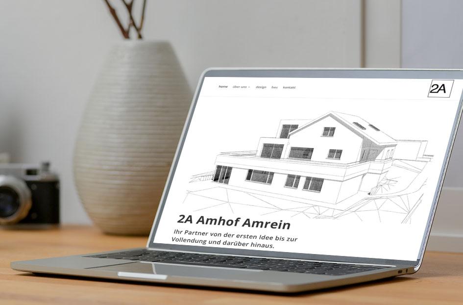 2A Amhof Amrein Architektur 1 – Referenzbild von laufweite Webdesign & Corporate Design | Raum Zürich