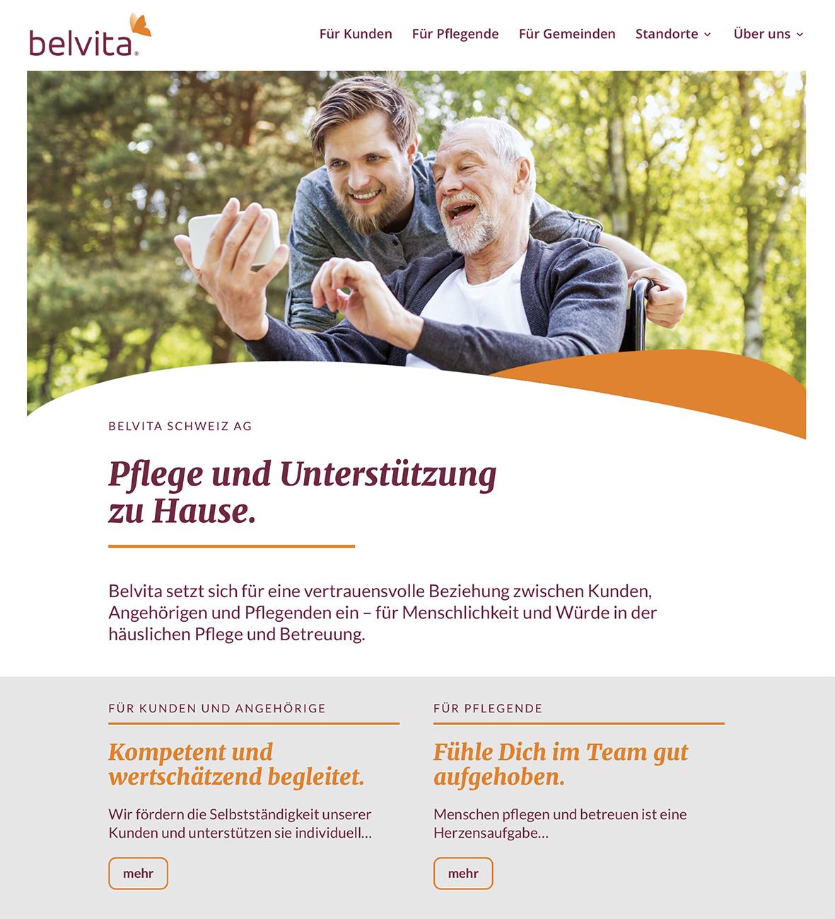 belvita 2 – Referenzbild von laufweite Webdesign & Corporate Design | Raum Zürich