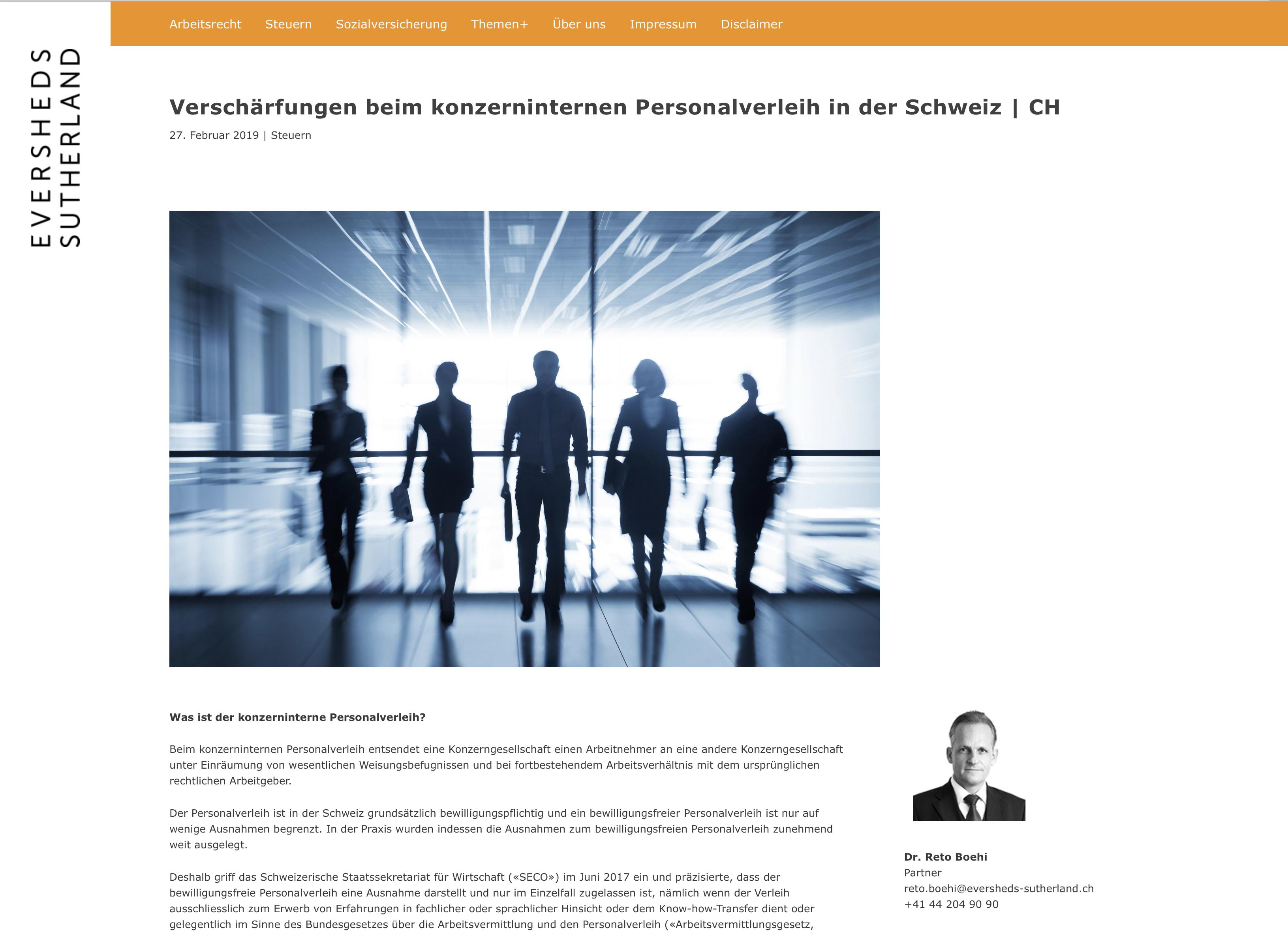 Global Mobility Legal Blog 3 – Referenzbild von laufweite Webdesign & Corporate Design | Raum Zürich