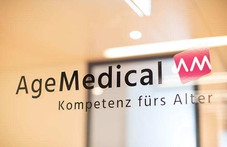 Age Medical Signaletik | laufweite Webdesign & Corporate Design | Raum Zürich