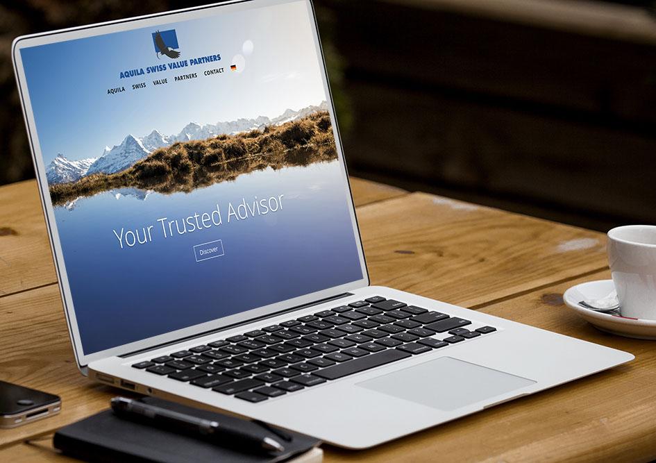 Aquila Swiss Value Partners 1 – Referenzbild von laufweite Webdesign & Corporate Design | Raum Zürich