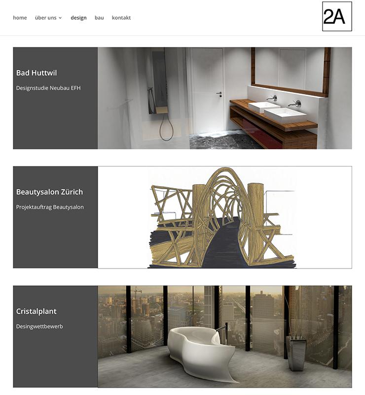 2A Amhof Amrein Architektur 2 – Referenzbild von laufweite Webdesign & Corporate Design | Raum Zürich