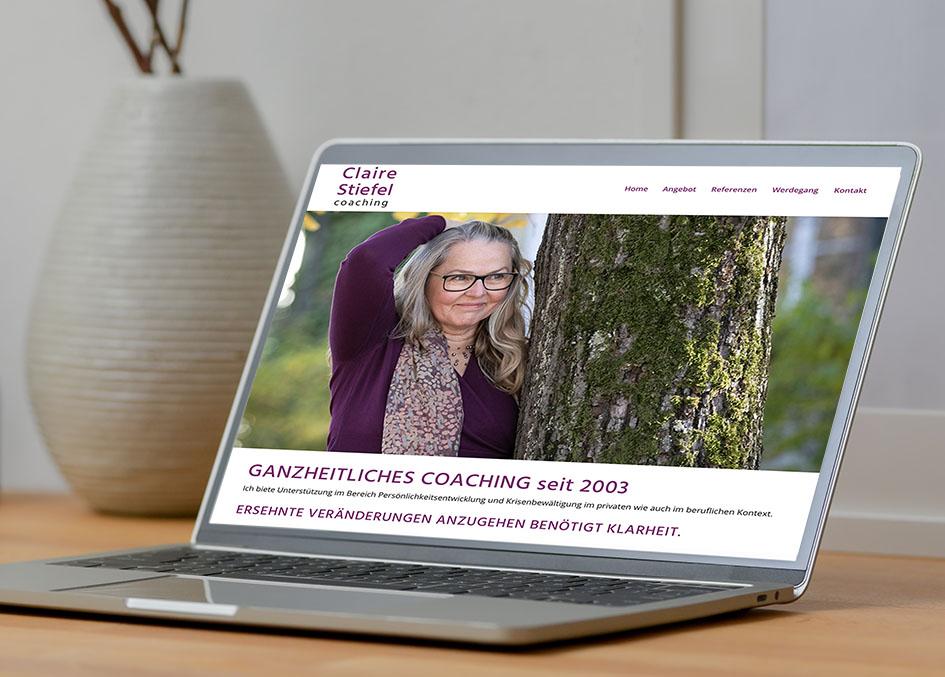 Claire Stiefel coaching 1 – Referenzbild von laufweite Webdesign & Corporate Design | Raum Zürich