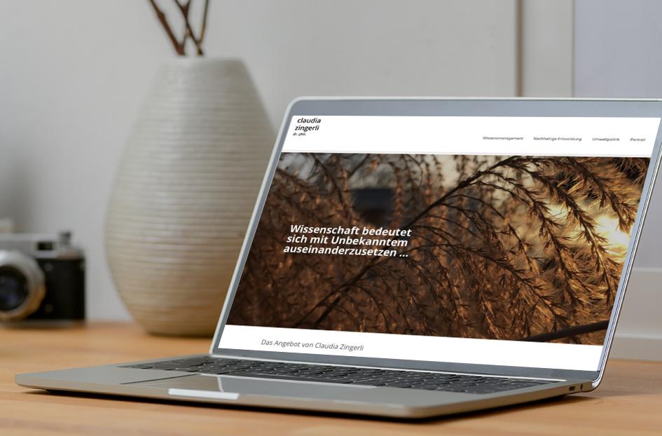 Claudia Zingerli Wissensmanagement 1 – Referenzbild von laufweite Webdesign & Corporate Design | Raum Zürich