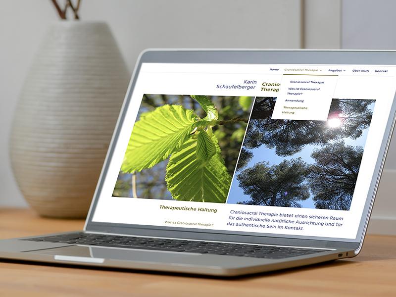Craniosacral Therapie Karin Schaufelberger 3 – Referenzbild von laufweite Webdesign & Corporate Design | Raum Zürich