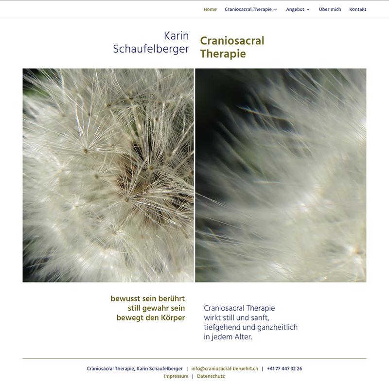 Craniosacral Therapie Karin Schaufelberger 1 – Referenzbild von laufweite Webdesign & Corporate Design | Raum Zürich