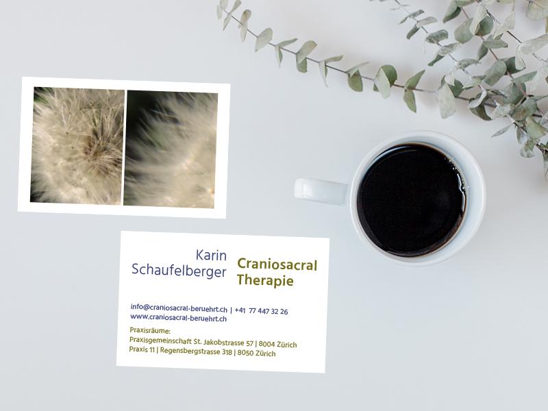 Craniosacral Therapie Karin Schaufelberger 2 – Referenzbild von laufweite Webdesign & Corporate Design | Raum Zürich