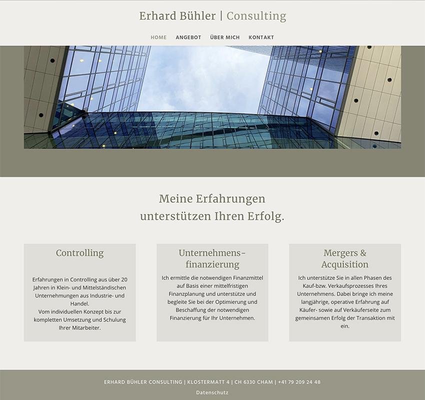 Erhard Buehler   Consulting 2 – Referenzbild von laufweite Webdesign & Corporate Design   Raum Zürich
