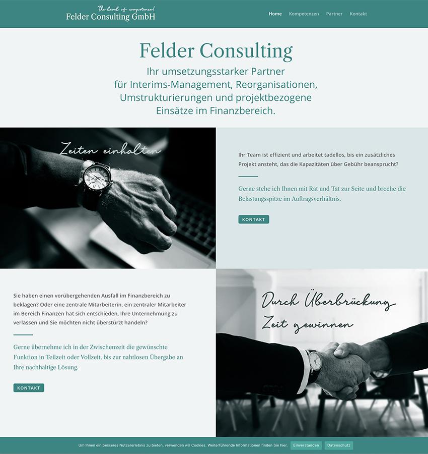Felder Consulting 1 – Referenzbild von laufweite Webdesign & Corporate Design   Raum Zürich