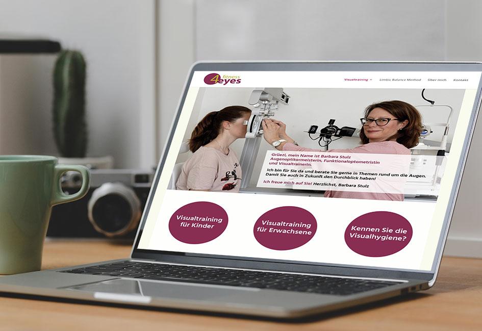 fitness4eyes Barbara Stulz 1 – Referenzbild von laufweite Webdesign & Corporate Design | Raum Zürich