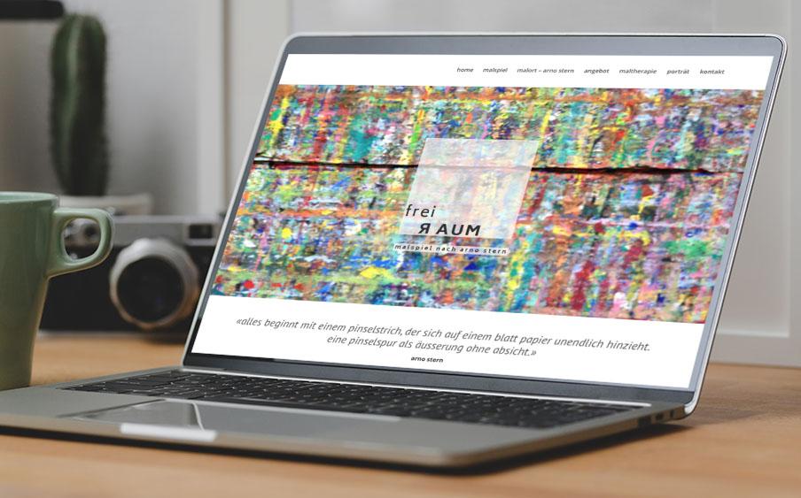 freiraum – malatelier 1– Referenzbild von laufweite Webdesign & Corporate Design   Raum Zürich