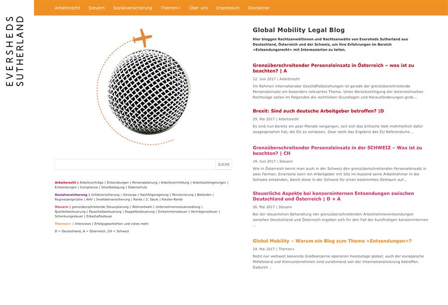 Global Mobility Legal Blog 1 – Referenzbild von laufweite Webdesign & Corporate Design | Raum Zürich