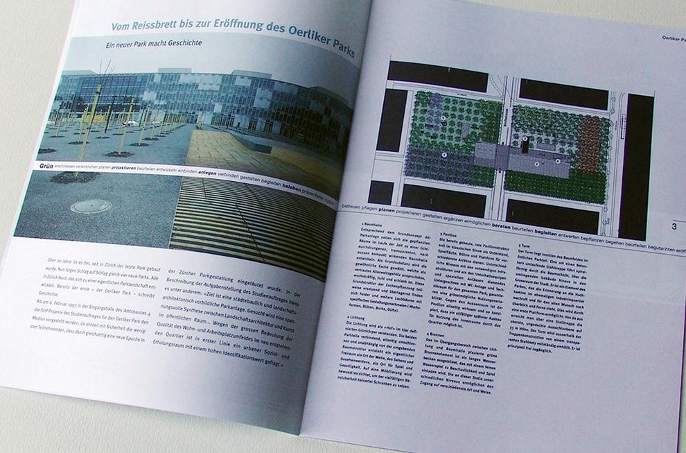 Grün Stadt Zürich Editorial Design 3   laufweite Webdesign & Corporate Design   Raum Zürich