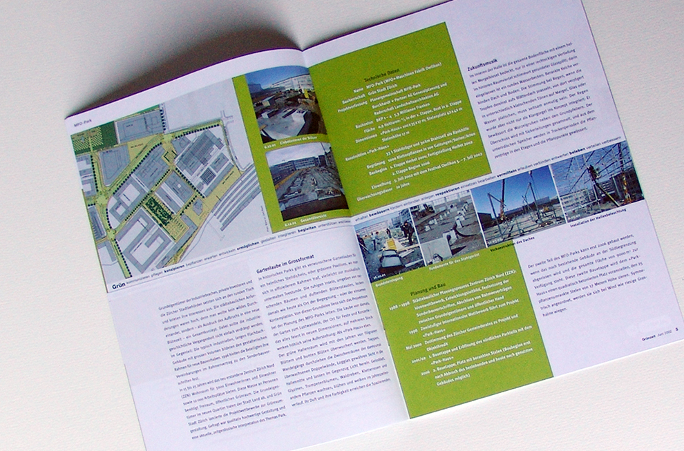 Grün Stadt Zürich Editorial design 2   laufweite Webdesign & Corporate Design   Raum Zürich