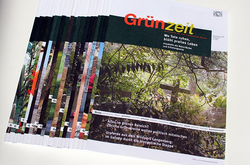 Grün Stadt Zürich Editorial design 1   laufweite Webdesign & Corporate Design   Raum Zürich