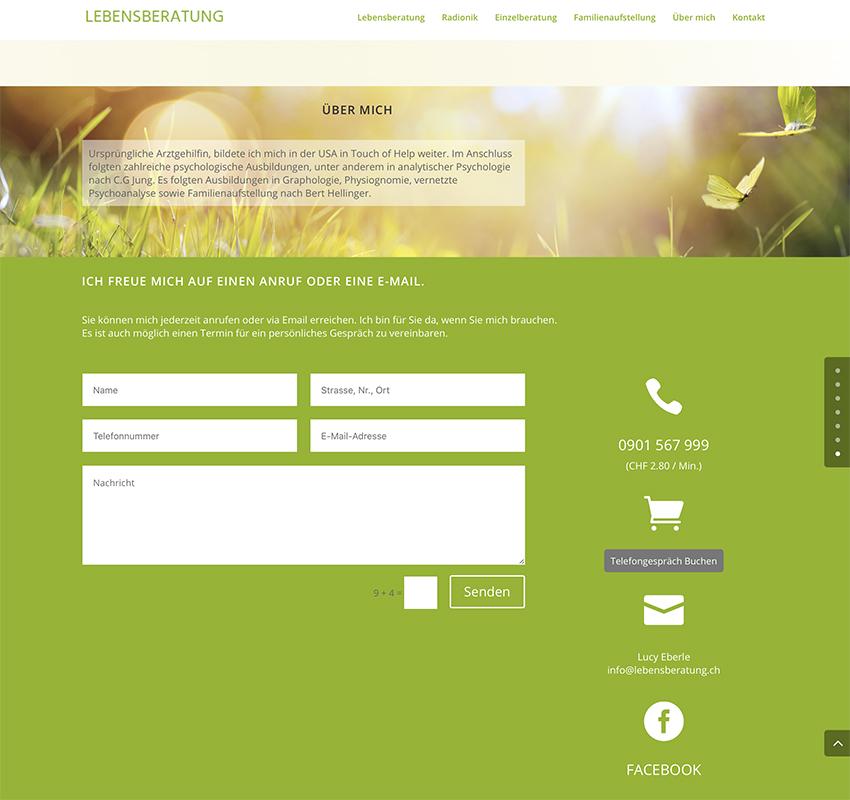 lebensberatung 3 – Referenzbild von laufweite Webdesign & Corporate Design | Raum Zürich