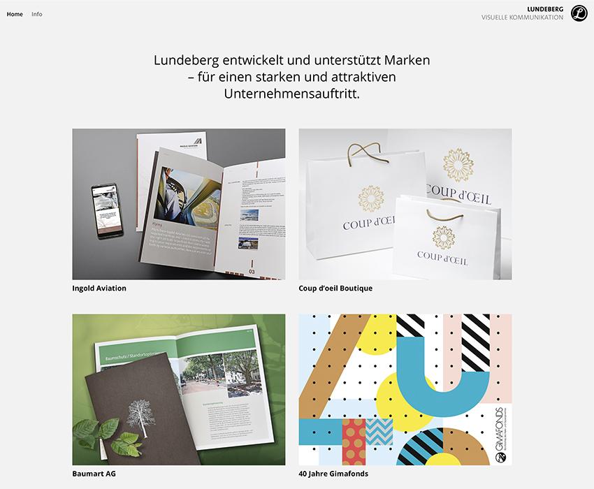 Susanne Lundeberg Visuelle Kommunikation – Referenzbild von laufweite Webdesign & Corporate Design | Raum Zürich