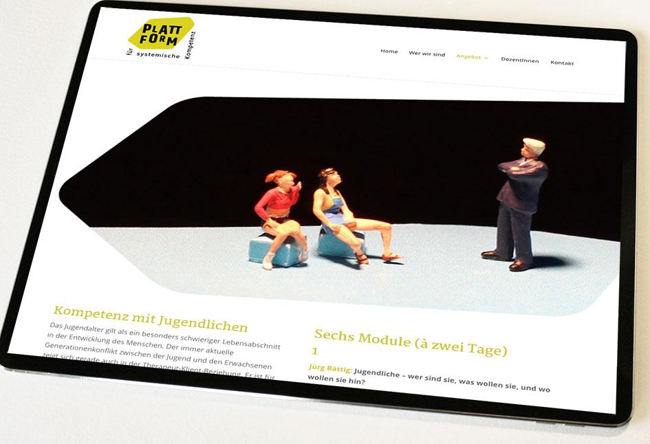 Plattform für systemische Kompetenz 3 – Referenzbild von laufweite Webdesign & Corporate Design | Raum Zürich