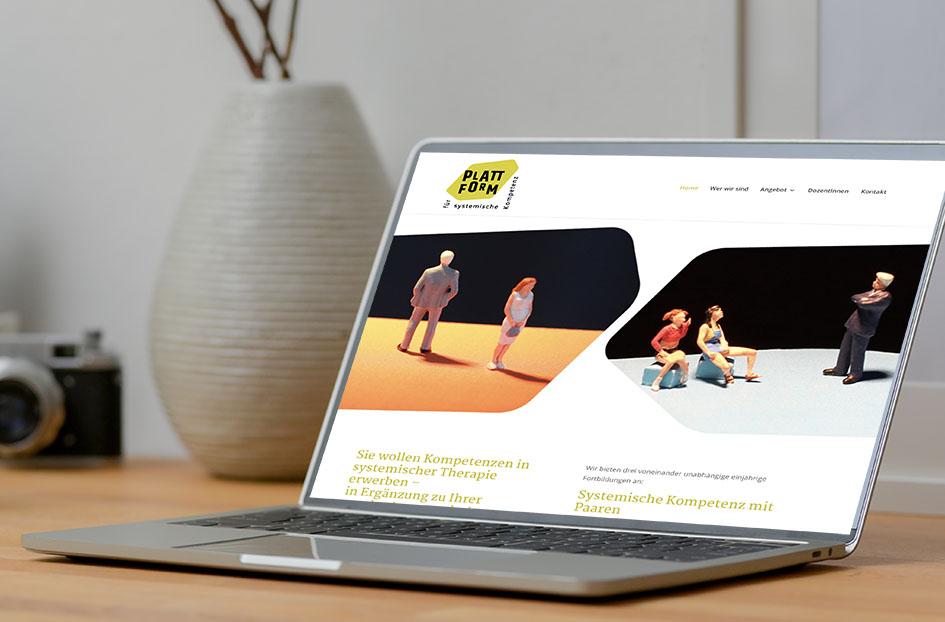 Plattform für systemische Kompetenz 2 – Referenzbild von laufweite Webdesign & Corporate Design | Raum Zürich