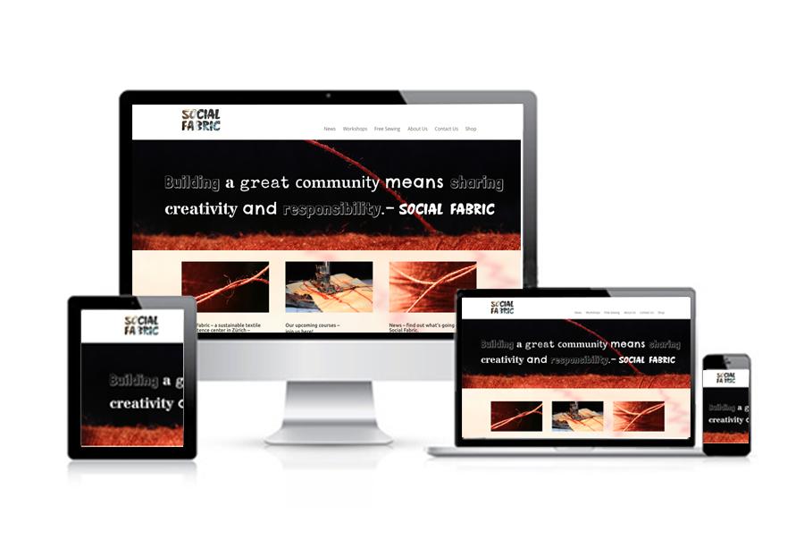 Social Fabric Referenzbild 3 | laufweite Webdesign & Corporate Design | Raum Zürich