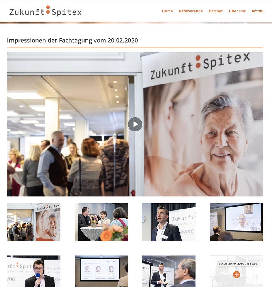 Zukunft: Spitex 2 – Referenzbild von laufweite Webdesign & Corporate Design   Raum Zürich